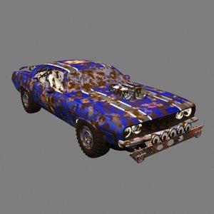 3dsmax offroad car
