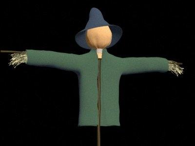 scarecrow man 3d dxf