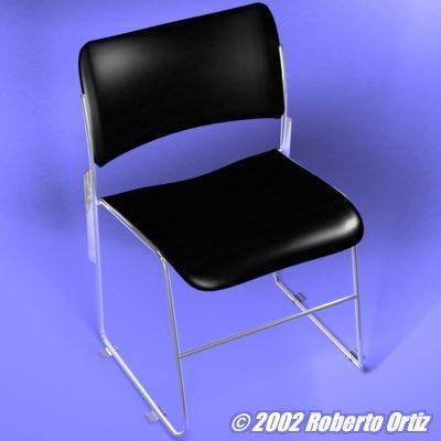 auditorium chair 3d lwo