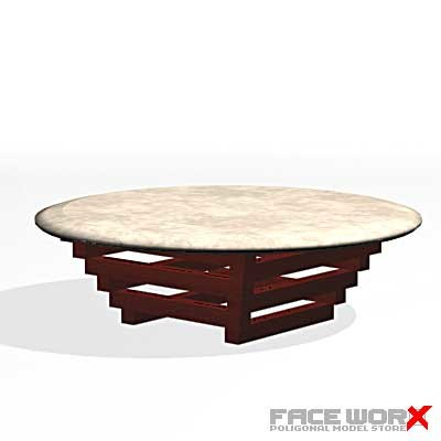 3ds max table cocktail