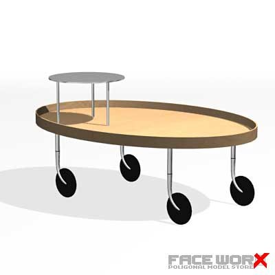 3d table serving model