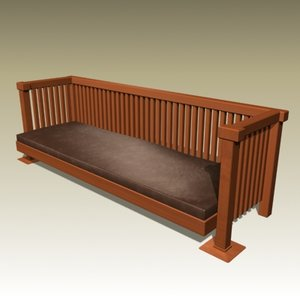 3d frank bench model