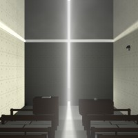 3d max tadao ando church