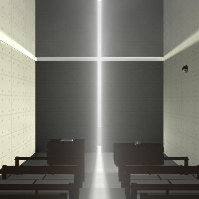 3d max tadao ando church