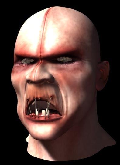 zombie head 3d lwo