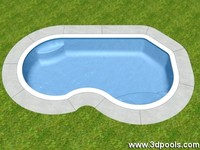 3d freeform swimming pool model