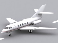 dassault falcon 20 aircraft 3d model