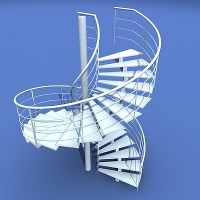 3ds max spiral staircase