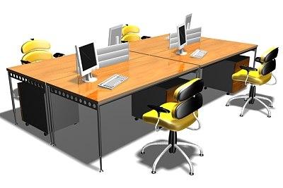 3d workstation office work