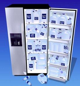 3d refrigerator gallon jugs