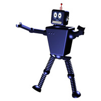 robot animation 3d model