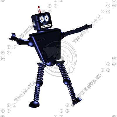 robot animation 3d model