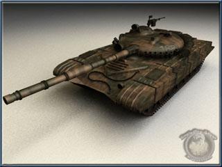 russian t72 tank desert 3d model