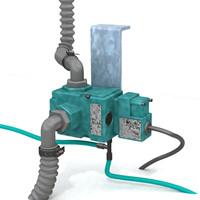 3d solenoid valve model