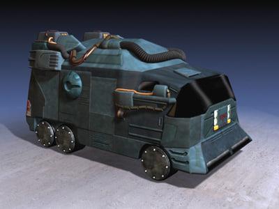 gmc bulldog step-van 3d model
