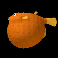 3d model puffer fish