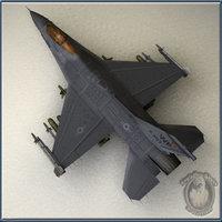 f16c falcon 3d model