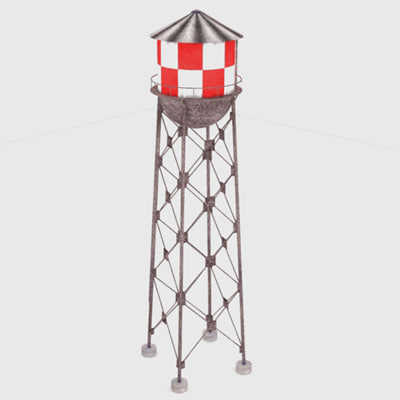 3ds max water tower watertower