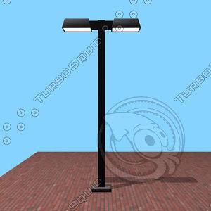 3d modern lamp street model