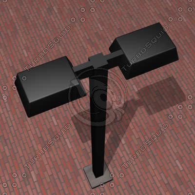 modern lamp street 3d model