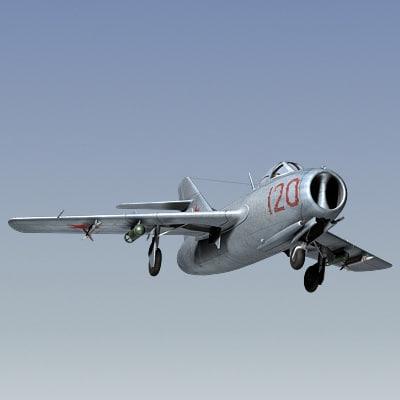 3d mig-15 fighter soviet model