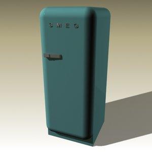 3dsmax smeg refrigerator