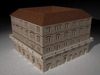 roman building 3d c4d
