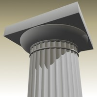 3d model doric column