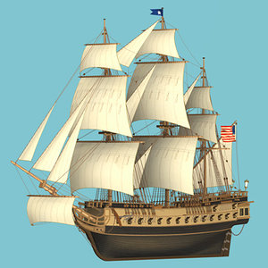 naval frigate 3d model