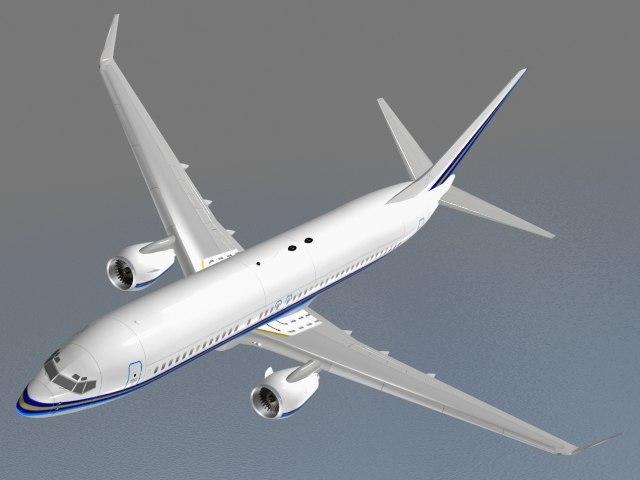 3ds max b 737-800 airplane jet
