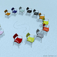 splash chair colors 3d model