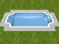 grecian swimming pool 3d model