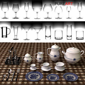 glasses porcelain 3d model