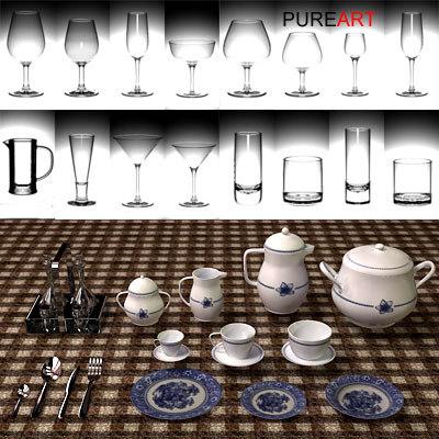glasses porcelain 3d model