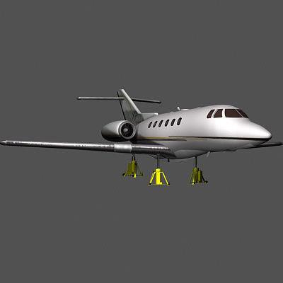 hawker plane 3d model