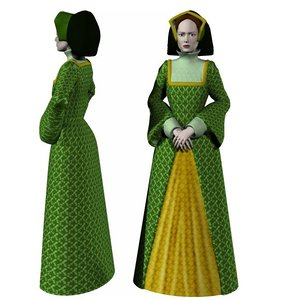 costume lady poser 3 3d model