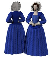 costume lady elizabethan poser 3d model
