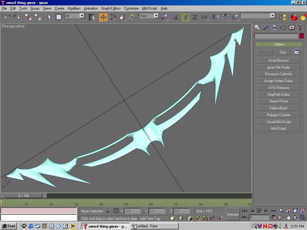 free handed sword 3d model
