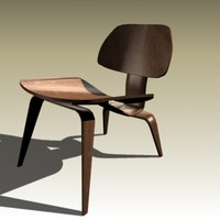 charles eames lcw chair 3d model