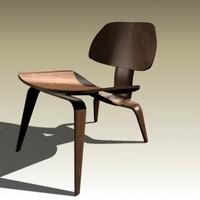 charles eames lcw chair 3d obj
