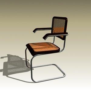 3d model marcel breuer cesca chair