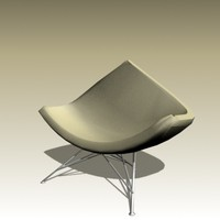 3d george nelson coconut chair model