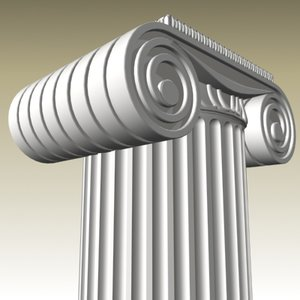 ionic column obj