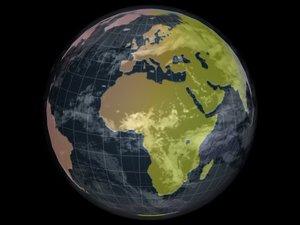 maya globe animation