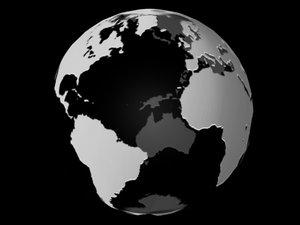 globe animation 3d model