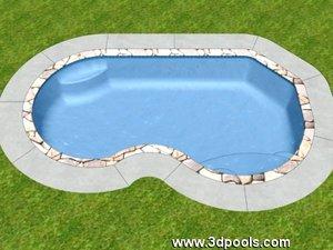freeform swimming pool 3d max