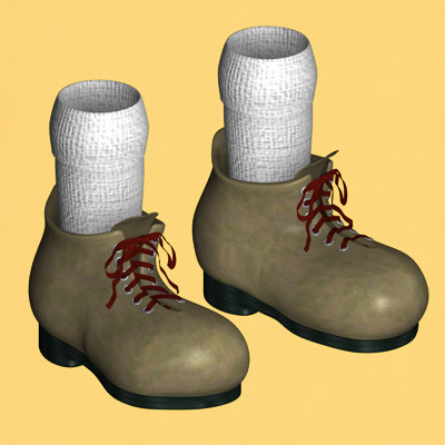3d model of toon shoes