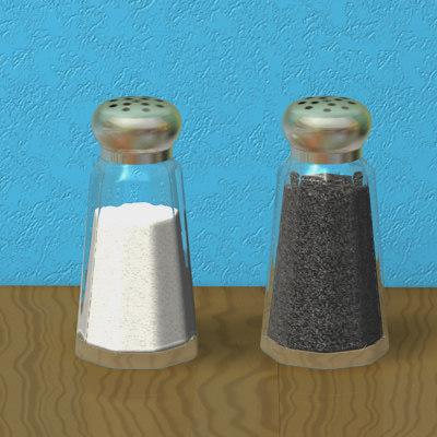 3d salt pepper shakers