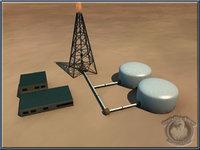 oil building 3d model