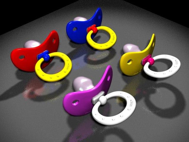 pacifier kids 3d model